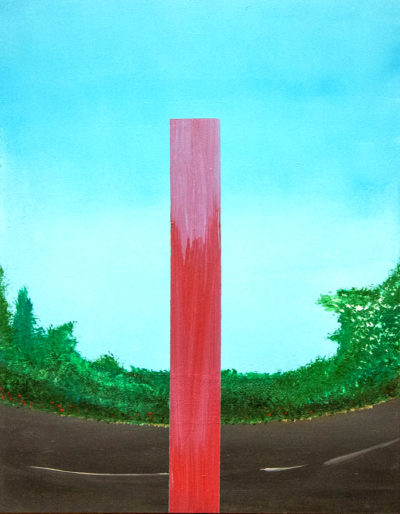 Bertrand Grave. Pintura. Serie Perfecta Erección. Erección en el parque. 2016.