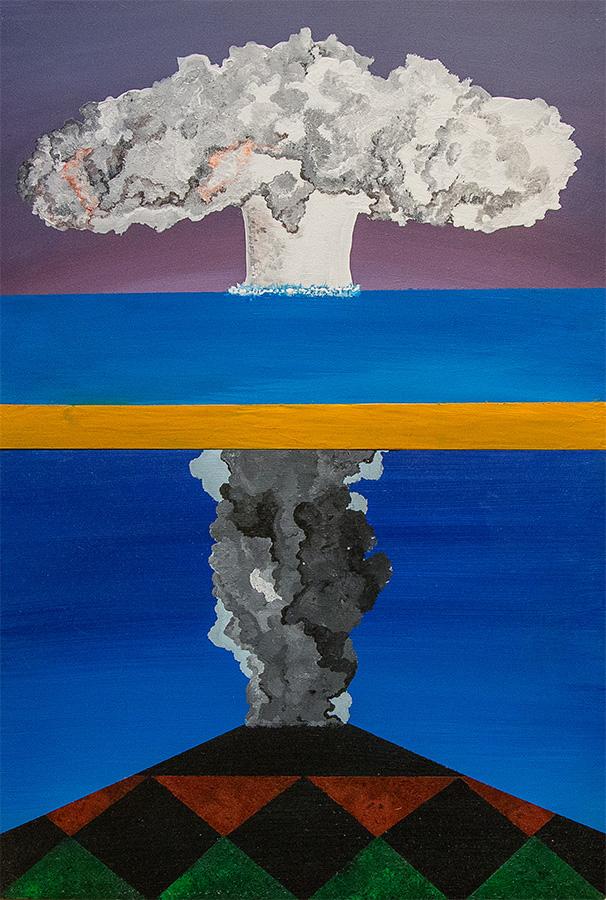 Bertrand Grave. Pintura. Serie Consume. Acción reacción. 2016.