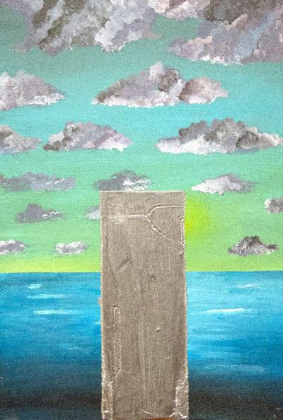 Bertrand Grave. Pintura. Serie Perfecta Erección. Plateada y con Brillo. 2016.
