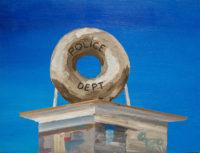 Bertrand Grave. Pintura. Serie Consume. Comisaría y Donuts. 2016.