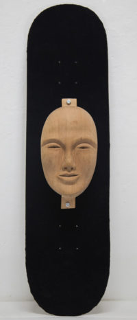 Bertrand Grave. Escultura. Madera. Skate & Die. Mutación 0.1. 2015.