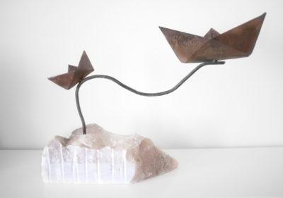 Bertrand Grave. Escultura. Metal. Black Boats. 2015.